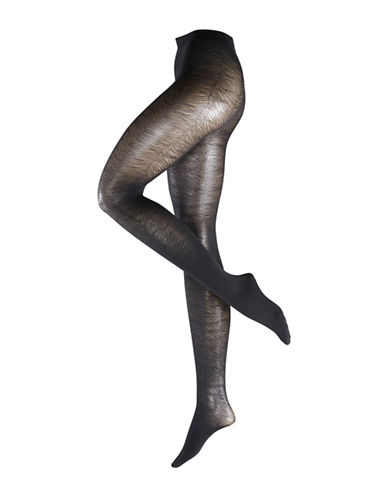 Falke Omochromatic Zebra Striped Tights-BLACK-Small 88706065_BLACK_Small