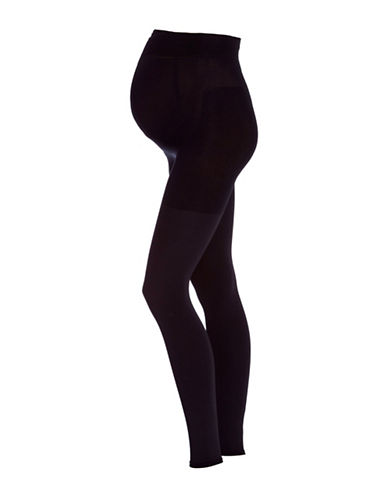 Falke 9 Month Knitted Leggings-BLACK-X-Large