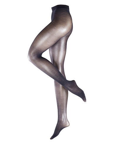Falke Sheer Ink Deco Tights-BLUE-Medium/Large