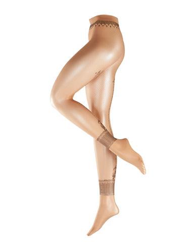 Falke Henna-Printed Fashion Tights-BEIGE-Medium
