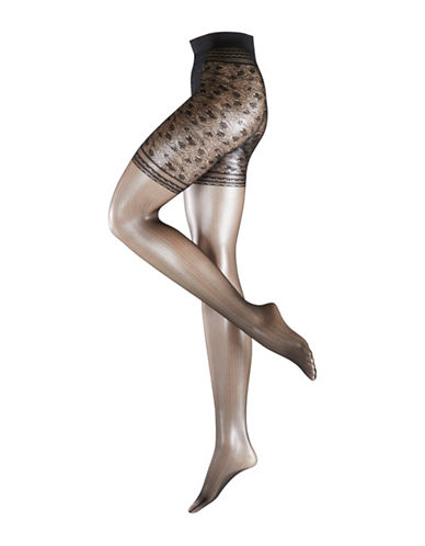 Falke Bonton Mesh Tights-BLACK-Small