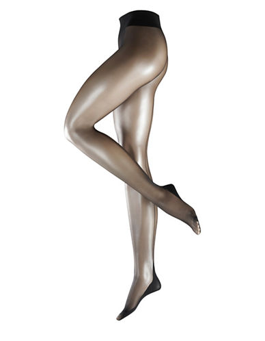 Falke Contrast Back-Seam Sheer Tights-BLACK-Small