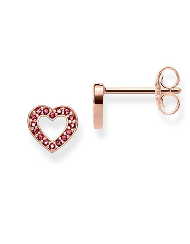Thomas Sabo Heart Small Stud Earrings-ROSEGOLD-One Size