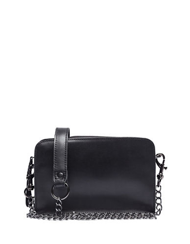 Liebeskind Crissy Leather Crossbody Bag-GLOSSY BLACK-One Size