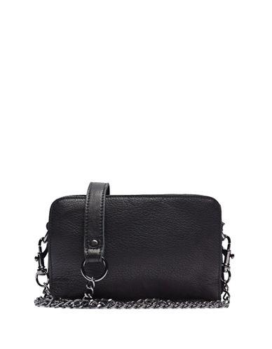 Liebeskind Crissy Leather Crossbody Bag-VINTAGE BLACK-One Size plus size,  plus size fashion plus size appare