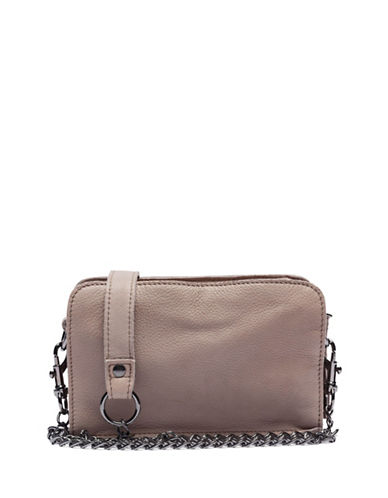 Liebeskind Crissy Leather Crossbody Bag-STONE-One Size