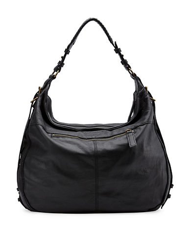 Liebeskind Tilda Leather Hobo Bag-BLACK-One Size