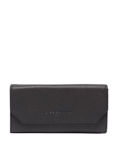 Liebeskind Onna Pebbled Leather Wallet-BLACK-One Size