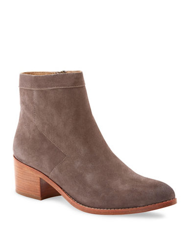 Liebeskind Suede and Leather Short Ankle Booties-CLOUD GREY-EUR 37/US 7