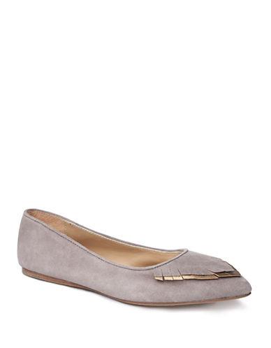 Liebeskind Round Toe Suede Ballerina Flats-GREY-EUR 37/US 7