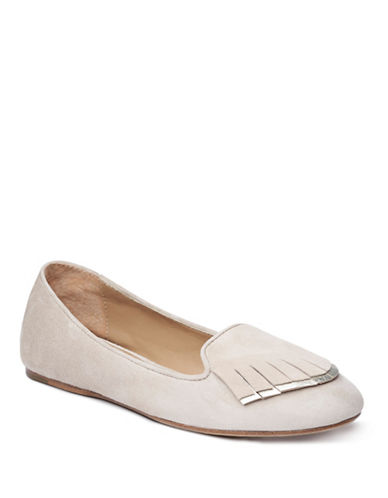 Liebeskind Pointy Toe Suede Ballerina Flats-LIGHT POWDER-EUR 37/US 7
