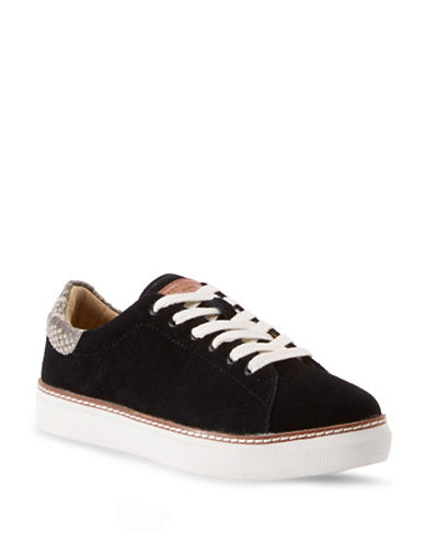 Liebeskind Low-Top Suede Sneakers-BLACK-EUR 38/US 8