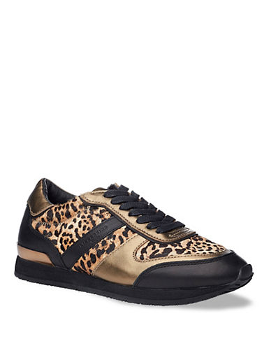 Liebeskind Lace-Up Leopard Leather Sneakers-BLACK-EUR 36/US 6