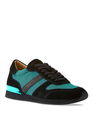 Liebeskind Lace-Up Suede Mesh Sneakers-BLACK-EUR 38/US 8