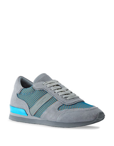 Liebeskind Lace-Up Suede Mesh Sneakers-LIGHT BLUE-EUR 39/US 9