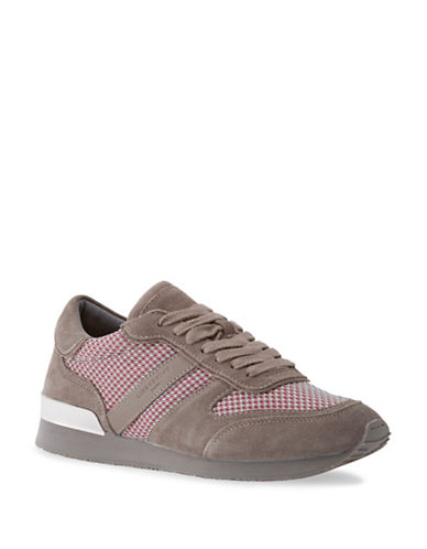 Liebeskind Lace-Up Suede Mesh Sneakers-CLOUD GREY-EUR 37/US 7
