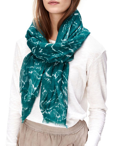 Liebeskind Subtle Graphic Print Scarf-GREEN-One Size