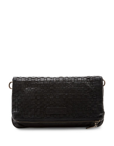 Liebeskind Aloe B Woven Leather Crossbody Bag-BLACK-One Size