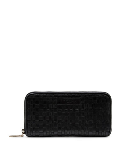 Liebeskind Anu Basketweave Zip Around Wallet-BLACK-One Size