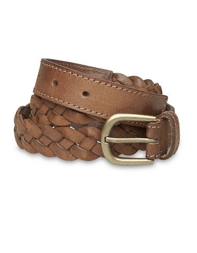 Liebeskind Braided Leather Belt-COGNAC-Large