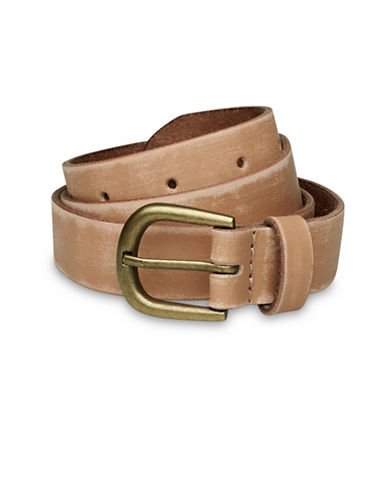 Liebeskind Distressed Leather Belt-NUDE-Medium
