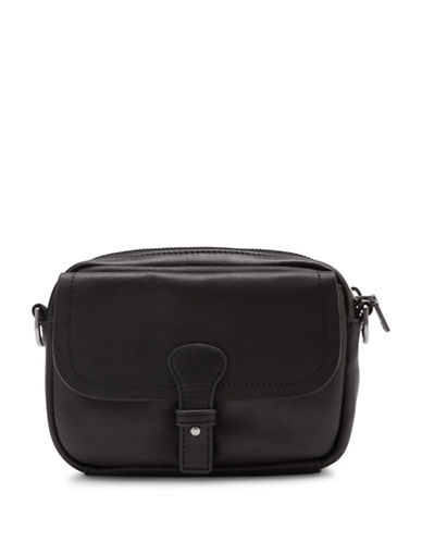 Liebeskind Mailin Leather Crossbody Purse-BLACK-One Size