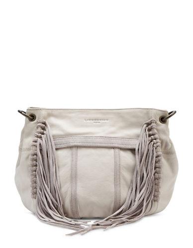Liebeskind Danielle Leather Satchel Fringe Bag-WHITE-One Size
