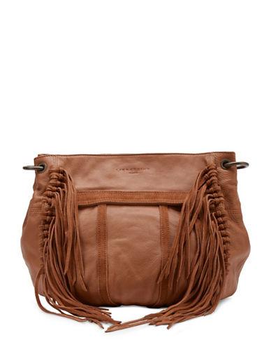 Liebeskind Danielle Leather Satchel Fringe Bag-BROWN-One Size
