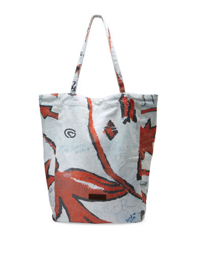 Liebeskind Printed Cotton Tote-RED/WHITE-One Size