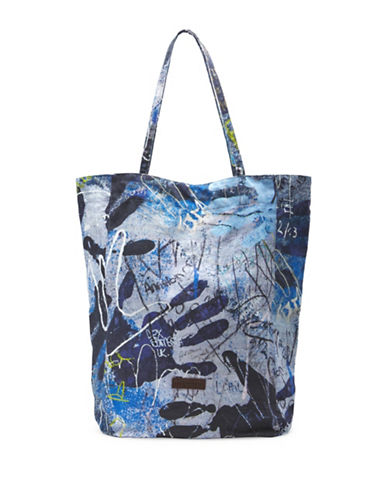 Liebeskind Printed Cotton Tote-BLUE-One Size