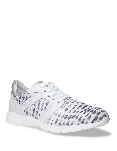 Liebeskind Lace-Up Canvas and Leather Sneakers-WHITE-EUR 37/US 7