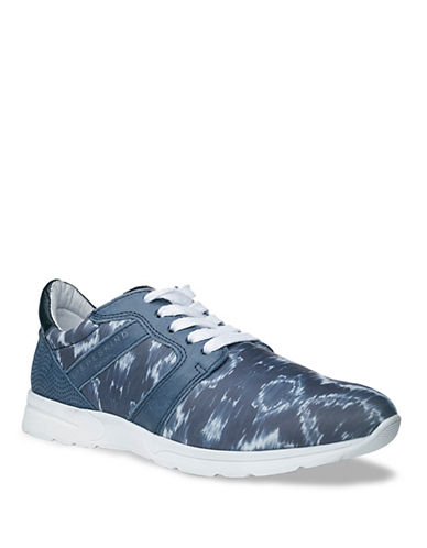 Liebeskind Lace-Up Canvas and Leather Sneakers-DARK BLUE-EUR 37/US 7