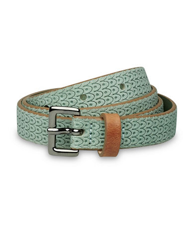 Liebeskind Embossed Scale Leather Belt-GREEN-Medium