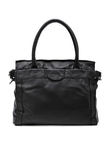 Liebeskind Glory Vintage Leather Satchel-BLACK-One Size