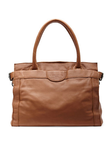 Liebeskind Glory Vintage Leather Satchel-COGNAC-One Size