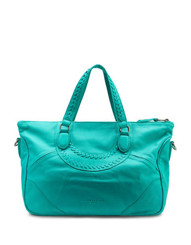Liebeskind Esther Leather Satchel Bag-MIAMI GREEN-One Size