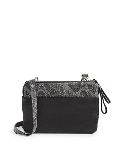 Liebeskind Karen Textured Leather Crossbody Bag-BLACK-One Size
