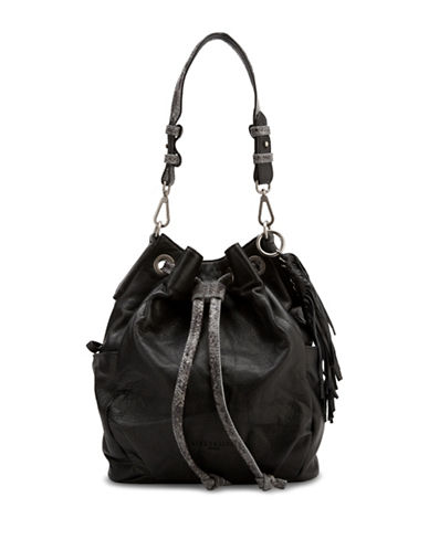 Liebeskind Loreley Leather Bucket Bag-BLACK-One Size