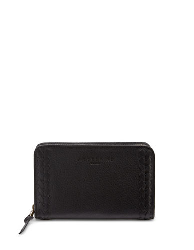 Liebeskind Nora Leather Zip Around Wallet-BLACK-One Size