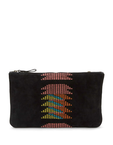 Liebeskind Carol Suede Convertible Clutch-BLACK MULTI-One Size