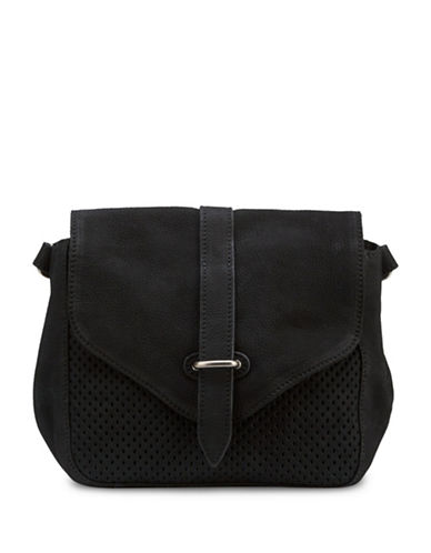 Liebeskind Christin Leather Saddle Bag-BLACK-One Size