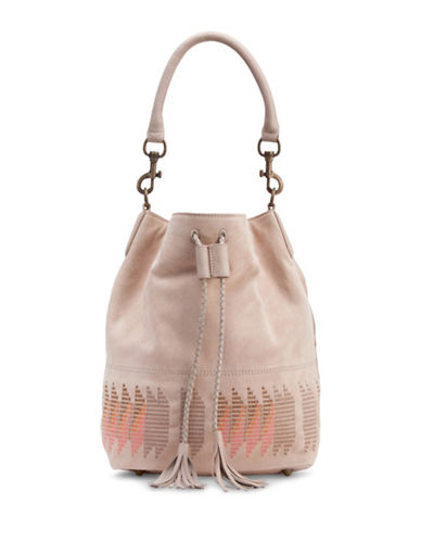 Liebeskind Debby Suede Bucket Bag-LIGHT POWDER-One Size