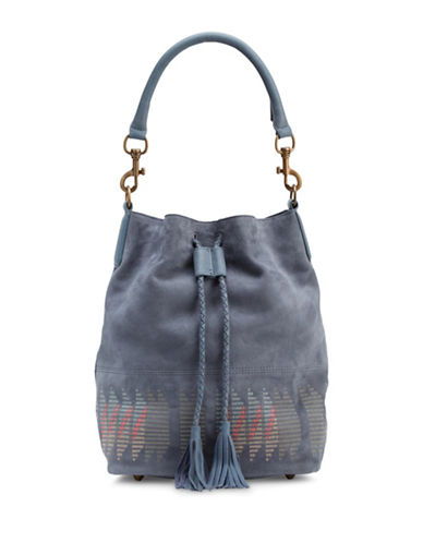 Liebeskind Debby Suede Bucket Bag-BLUE-One Size
