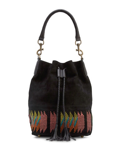 Liebeskind Debby Suede Bucket Bag-BLACK MULTI-One Size