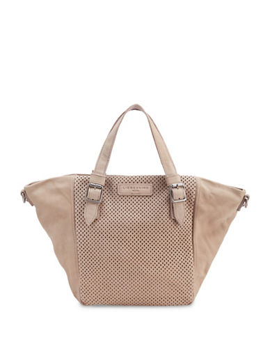 Liebeskind Dominique Leather Tote-LIGHT POWDER-One Size