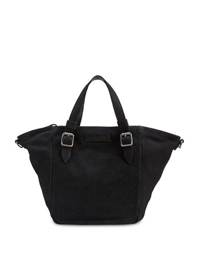 Liebeskind Dominique Leather Tote-BLACK-One Size