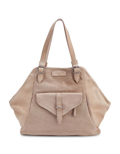 Liebeskind Sacha Leather Perforated Tote-LIGHT POWDER-One Size