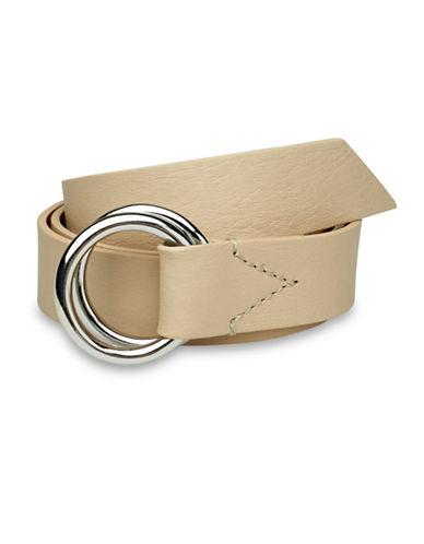 Liebeskind Double Ring Leather Belt-STONE-Large