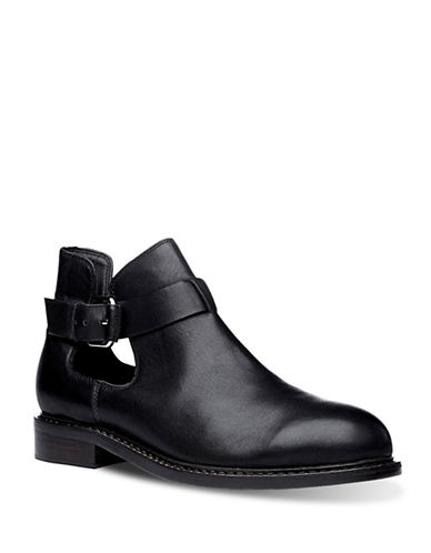 Liebeskind Leather Short Booties-BLACK-EUR 39/US 9