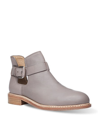 Liebeskind Leather Short Booties-CLOUD GREY-EUR 39/US 9